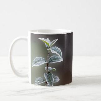 kant op bladeren koffiemok
