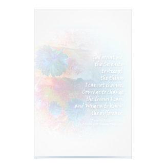 Kantoorbehoeften van de Bloem van het Gebed van de Briefpapier