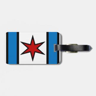 Kapitein Chicago Modern Shield Luggage Label Kofferlabel