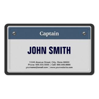 Kapitein Cool Car Nummerplaat Visitekaartjes