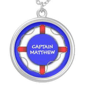 Kapitein Lifesaver Ring Zilver Vergulden Ketting