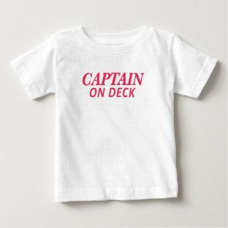 Kapitein op de Druk van het Dek Baby T Shirts