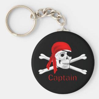 Kapitein Pirate Skull & Gekruiste knekels Keychain Sleutelhanger