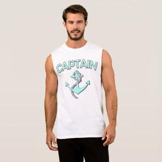 Kapitein van de boot met anker t shirt