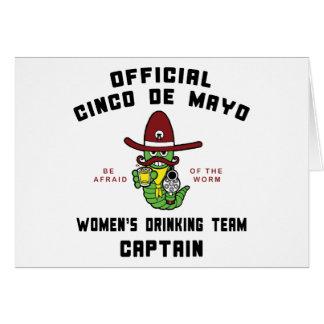 Kapitein van het Team van de Vrouwen van Cinco DE Wenskaart
