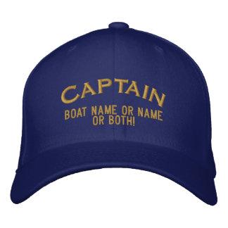 Kapitein Your Boat Name Your Naam of allebei! Geborduurde Pet