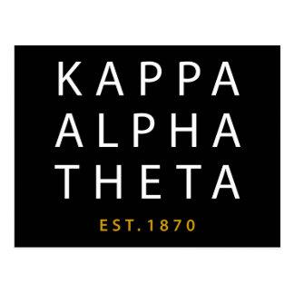 Kappa Alpha- Theta | Est. 1870 Briefkaart