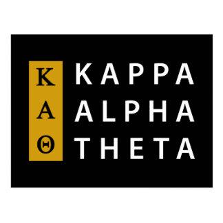 Kappa Alpha- Theta | Gestapeld Logo Briefkaart