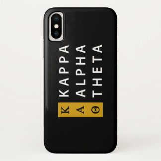 Kappa Alpha- Theta | Gestapeld Logo iPhone X Hoesje