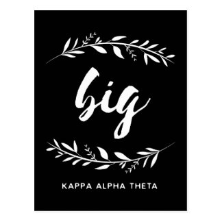 Kappa Alpha- Theta | Grote Kroon Briefkaart