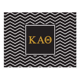 Kappa Alpha- Theta | het Patroon van de Chevron Briefkaart
