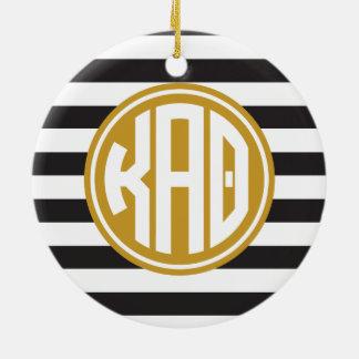 Kappa Alpha- Theta | het Patroon van de Streep van Rond Keramisch Ornament