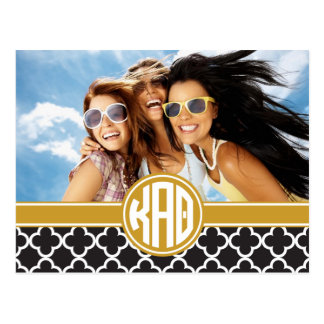 Kappa Alpha- Theta | Monogram en Foto Briefkaart