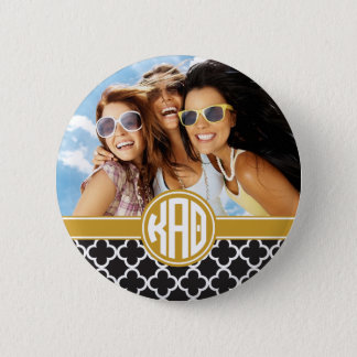 Kappa Alpha- Theta | Monogram en Foto Ronde Button 5,7 Cm