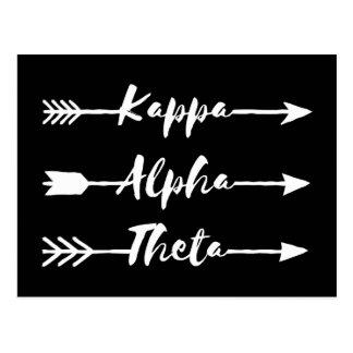 Kappa Alpha- Theta | Pijlen Briefkaart