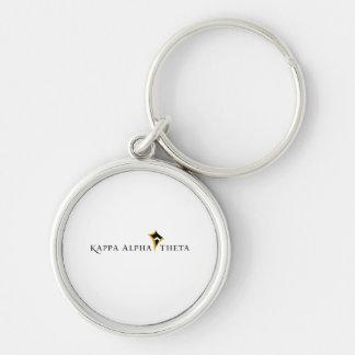 Kappa Alpha- Theta Zilverkleurige Ronde Sleutelhanger