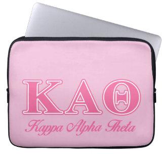 Kappa de Alpha- Roze Brieven van de Theta Laptop Sleeve