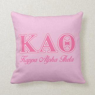 Kappa de Alpha- Roze Brieven van de Theta Sierkussen