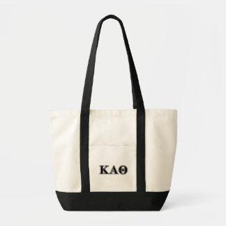 Kappa de Alpha- Zwarte Brieven van de Theta Draagtas