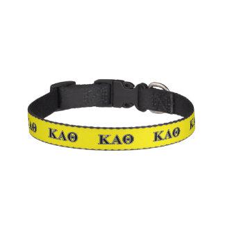 Kappa de Alpha- Zwarte Brieven van de Theta Huisdier Halsbandje