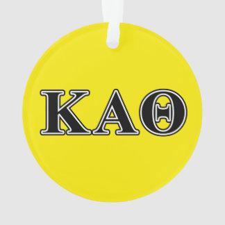 Kappa de Alpha- Zwarte Brieven van de Theta Ornament
