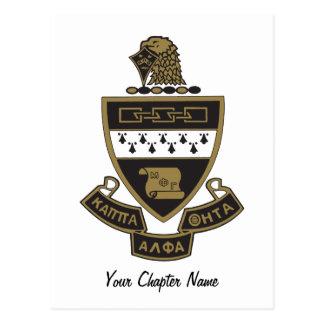 Kappa het Alpha- Wapenschild van de Theta: Kleur Briefkaart