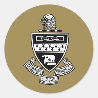 Kappa het Alpha- Wapenschild van de Theta: Ronde Sticker