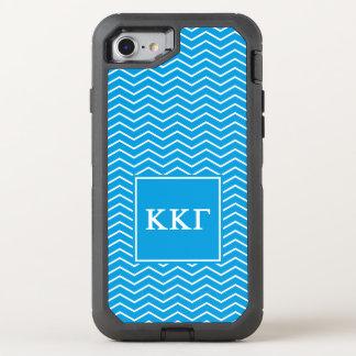 Kappa Kappa Gamma's   Patroon van de Chevron OtterBox Defender iPhone 8/7 Hoesje