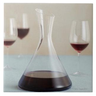 Karaf rode wijn tegeltje