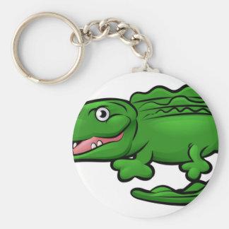 Karakter van de Cartoon van de krokodil het Sleutelhanger