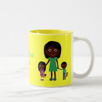 Karakters van de Cartoon van het Mamma van de Tweekleurige Koffiemok