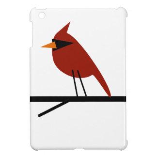 Kardinaal op een Lidmaat Hoesjes Voor iPad Mini