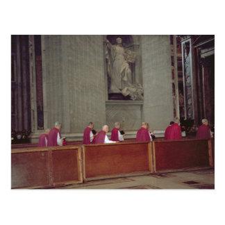 Kardinalen die Paus Johannes Paulus II begeleiden Briefkaart