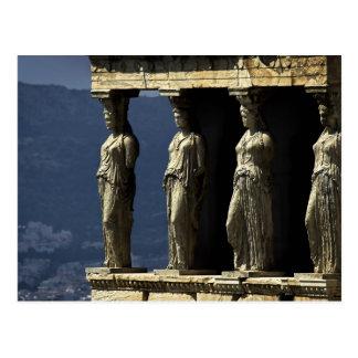 Kariatiden, Acroplis, Athene Briefkaart