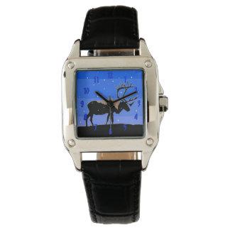 Kariboe in de Winter - het Originele Art. van het Horloge