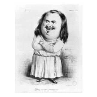 Karikatuur van Honore DE Balzac Briefkaart