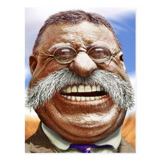 Karikatuur van Theodore Roosevelt Briefkaart