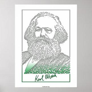 Karl Marx. Duitse filosoof en econoom [003] Poster