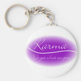 Karma - wij krijgen Wat wij geven Basic Ronde Button Sleutelhanger