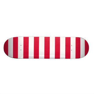 Karmozijnrode Horizontale Strepen; Gestreept Persoonlijk Skateboard