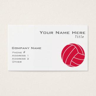 Karmozijnrood Rood Volleyball Visitekaartjes
