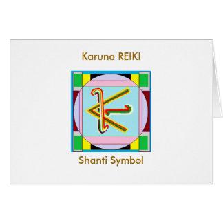 KARUNA Reiki: De Vrede van Shanti is met allen Kaart