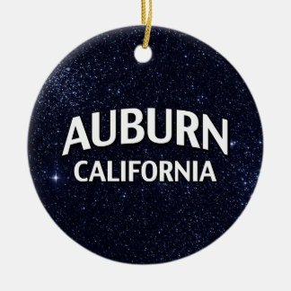 Kastanjebruin Californië Rond Keramisch Ornament