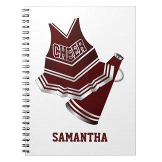 Kastanjebruin en Wit Notitieboekje Cheerleader Ringband Notitieboek