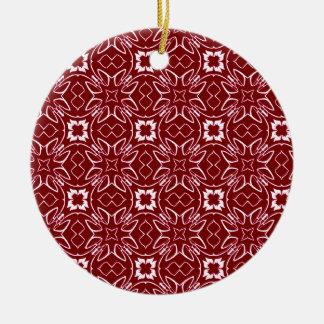 Kastanjebruin Patroon Rond Keramisch Ornament