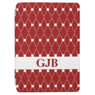 Kastanjebruin Rooster Argyle met monogram iPad Air Cover