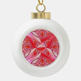 Kastanjebruine Abstractie Keramische Bal Ornament