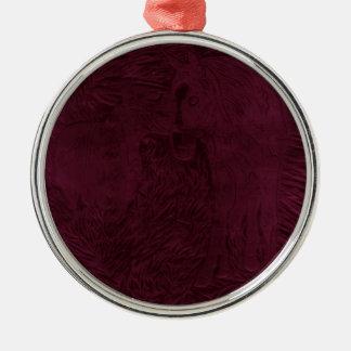 Kastanjebruine Buford en Suiker Zilverkleurig Rond Ornament