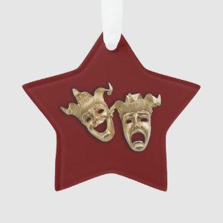Kastanjebruine de Maskers van het Theater van de Ornament