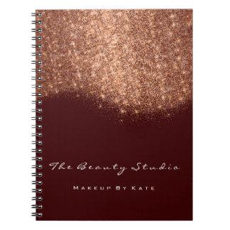 Kastanjebruine het Koper van de Kunstenaar van de Notitieboek